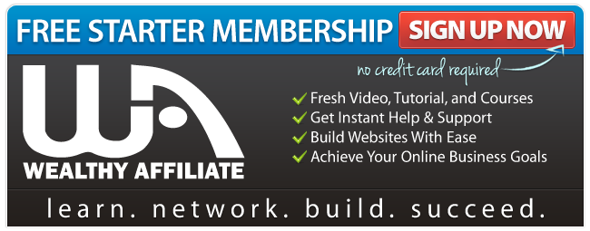 Wealthy Affiliate Free Starter Signup Image